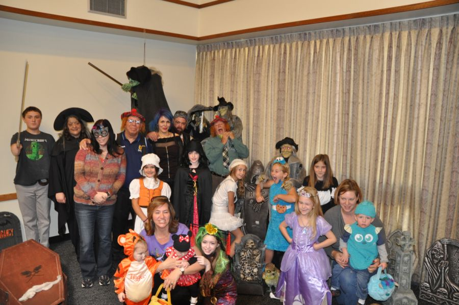 Costumes galore at the October 2013 meeting.