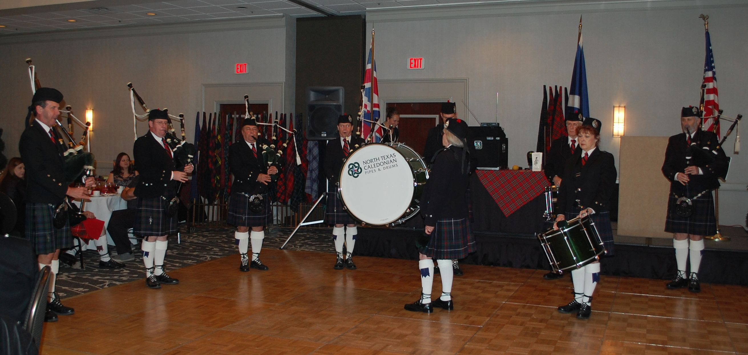 The North Texas Caledonian Pipes and Drums.